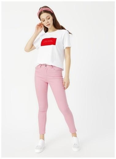 Limon Company Limon Beyaz - Kırmızı T-Shirt Beyaz